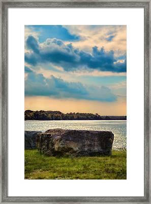 River Rock Framed Print