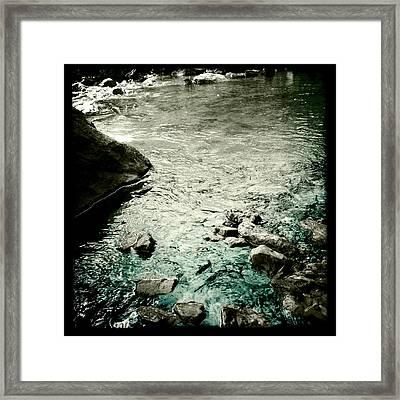 River Rocked Framed Print by Susan Maxwell Schmidt