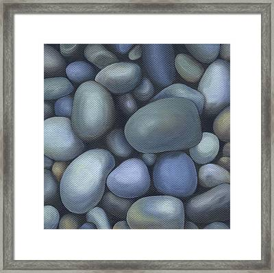 River Rocks Framed Print by Natasha Denger