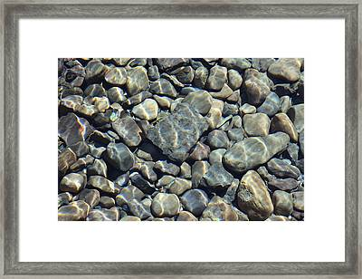Framed Print featuring the photograph River Rocks One by Chris Thomas