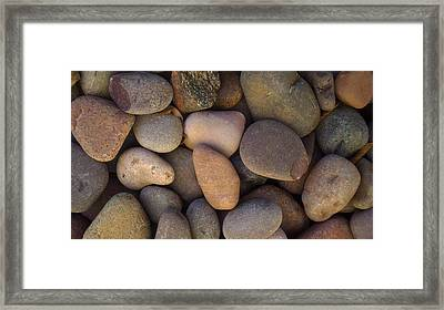 Framed Print featuring the photograph River Rocks by Richard Stephen