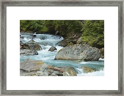 River Rocks Framed Print by Sylvia Hart