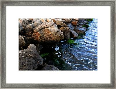 River Rocks Framed Print by Victoria Clark