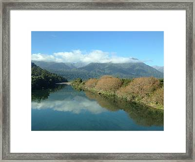River Framed Print by Ron Torborg
