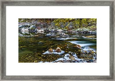 River Run Framed Print by Mitch Shindelbower