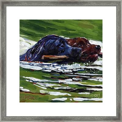 River Run Framed Print