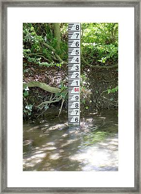 River Scale Framed Print by Sheila Terry