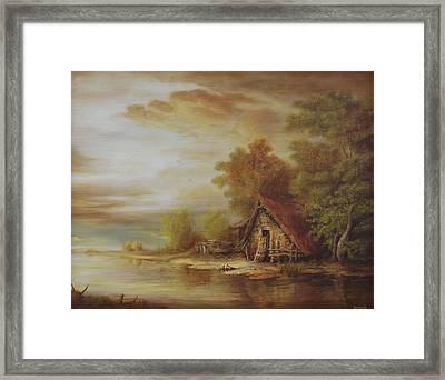 River Scene Framed Print by Dan Scurtu