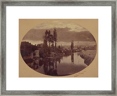 River Scene, France Camille Silvy, French Framed Print
