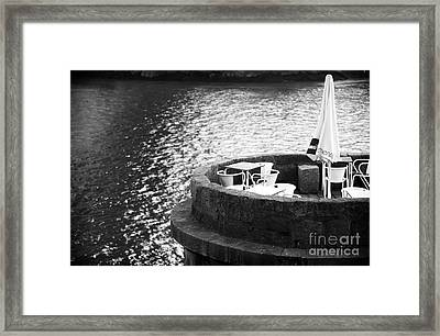 River Seat Framed Print by John Rizzuto