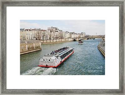 River Seine Excursion Boats Framed Print