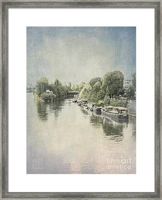 River Seine In Paris Framed Print