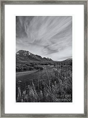 River Serenity Framed Print by Priska Wettstein