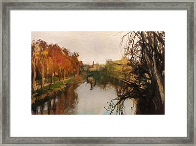 River Severn Autumn Light Framed Print by Paul Mitchell