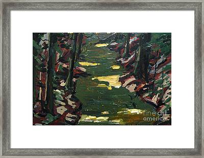 River Shadows After Sisley Framed Print by Charlie Spear