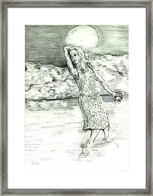 River Sighting Framed Print by Joseph Wetzel