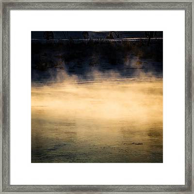 River Smoke Framed Print