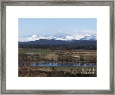 River Spey And Cairngorm Mountains Framed Print by Phil Banks