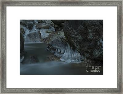 River Stalactites Framed Print by Rod Wiens