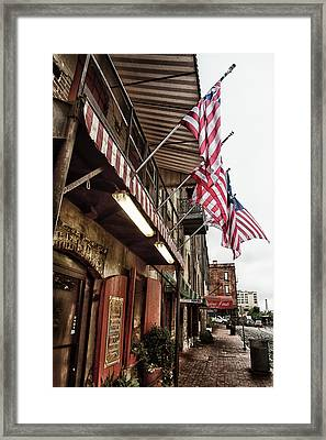 River Street Framed Print