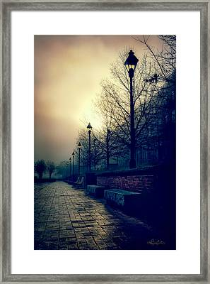 River Street Solitude Framed Print