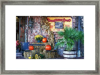 River Street Sweets Framed Print
