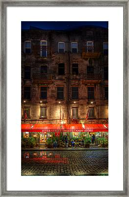 River Street Sweets Framed Print by Mark Andrew Thomas