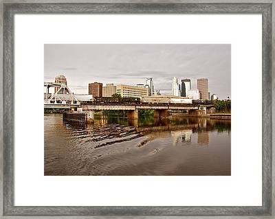 River Structures13 Framed Print by Susan Crossman Buscho