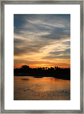 Framed Print featuring the photograph River Sun by Alicia Knust