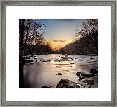 River Sunset Framed Print by Emmanouil Klimis