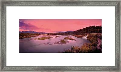 River Sunset Framed Print by Leland D Howard