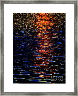 River Sunset Framed Print by Robyn King
