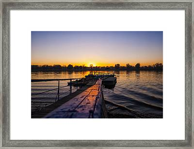 River Sunset Framed Print by Svetlana Sewell
