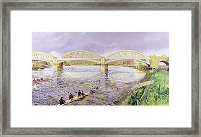 River Thames At Barnes Framed Print by Sarah Butterfield