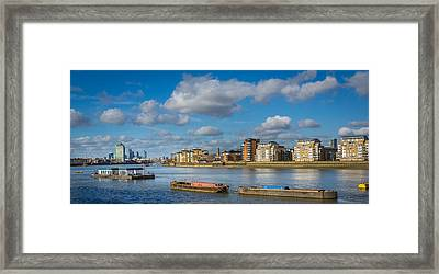 Framed Print featuring the photograph River Thames At Greenwich by Gary Gillette