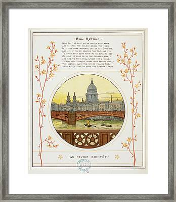 River Thames Framed Print by British Library