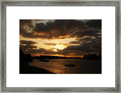 River Thames From Greenwich Framed Print