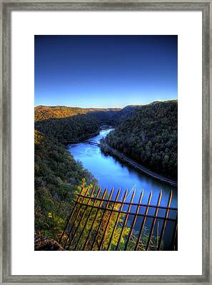 Framed Print featuring the photograph River Through A Valley by Jonny D