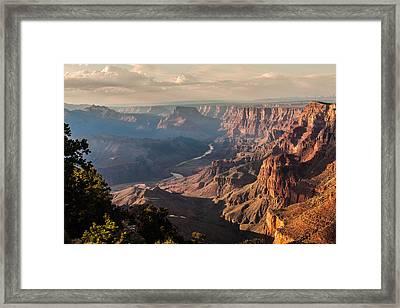 River Through Grand Canyon Framed Print