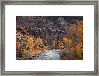 River Through The Aspen Framed Print by David Kehrli