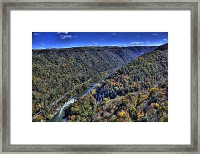 River Through The Hills Framed Print