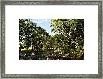 Framed Print featuring the photograph River Time by Sharon Jones