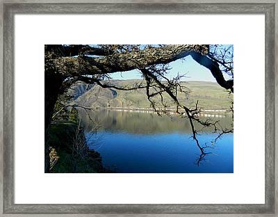 River Train Framed Print