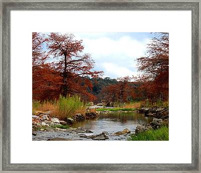 Framed Print featuring the photograph River Tranqulity by David  Norman