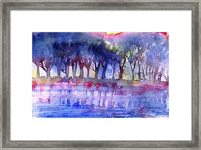 River Trees  Framed Print by Trudi Doyle