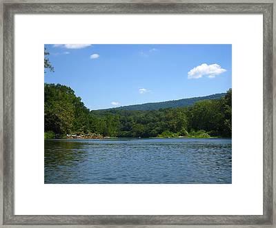 River Tubing - 12128 Framed Print