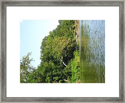 River Tubing - 12129 Framed Print