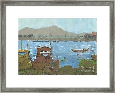 River View Framed Print by Brandy Magill