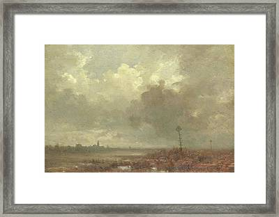 River View In Evening, Adolphe Mouilleron Framed Print