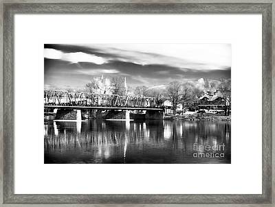 River View In New Hope Framed Print by John Rizzuto